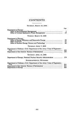 Energy and Water Development Appropriations for Fiscal Year     PDF
