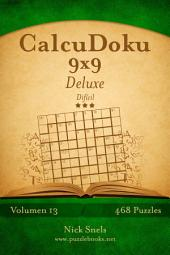 CalcuDoku 9x9 Deluxe - Difícil - Volumen 13 - 468 Puzzles