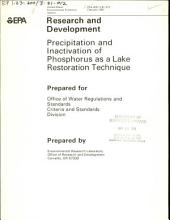 Precipitation and inactivation of phosphorus as a lake restoration technique