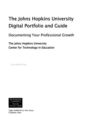The Johns Hopkins University Digital Portfolio and Guide PDF