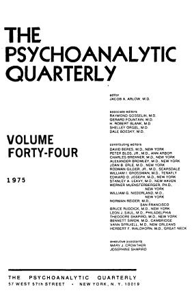 The Psychoanalytic Quarterly PDF