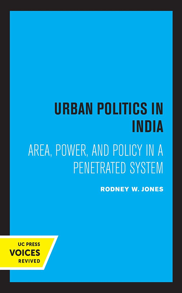 Urban Politics in India