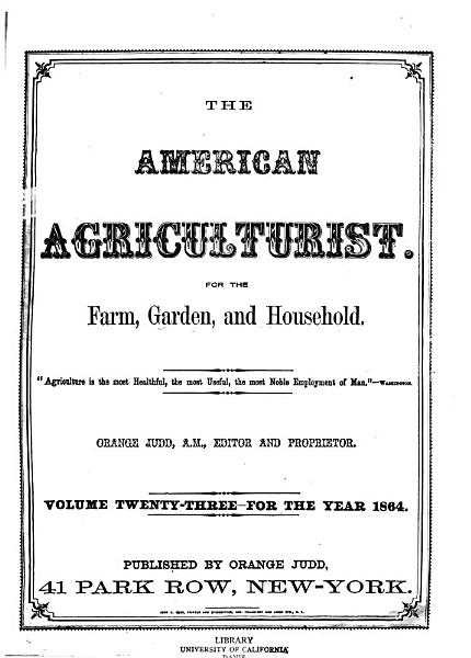 Download American Agriculturist Book