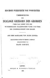 Bischofs Waerferth von Worcester übersetzung der Dialoge Gregors des Grossen über: über das leben und die wunderthaten italienscher ḁ̈ter, und über die unsterblichkeit der seelen, Band 5,Teil 1