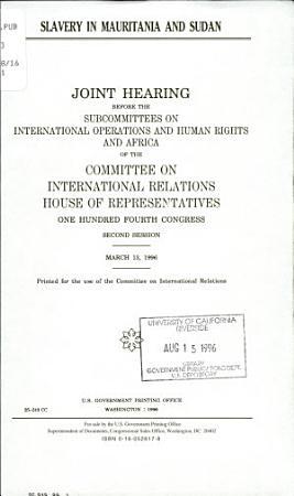 Slavery in Mauritania and Sudan PDF