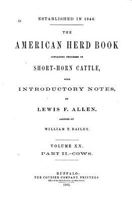 The American Shorthorn Herd Book PDF