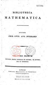 Bibliotheca mathematica,... von Fr. Wilh. Aug. Murhard