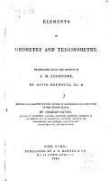 Elements of Geometry and Trigonometry PDF