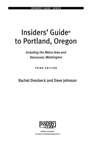 Insiders  Guide to Portland  Oregon