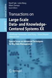 Transactions on Large-Scale Data- and Knowledge-Centered Systems XX: Special Issue on Advanced Techniques for Big Data Management
