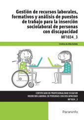 Gestión de recursos laborales, formativos y análisis de puestos de trabajo para la inserción sociolaboral de personas con discapacidad