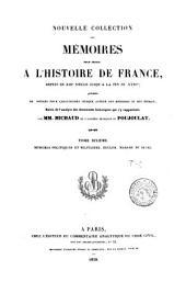 Nouvelle collection des mémoires pour servir à l'histoire de France: depuis le XIIIe siècle jusqu'à la fin du XVIIIe, Volume32
