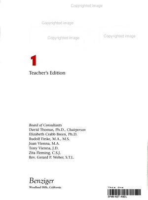 Teacher Edition and Classroom ACT  G1 Family Life 2001