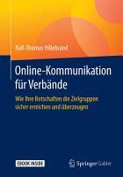 Online Kommunikation f  r Verb  nde PDF
