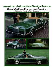 American Automotive Design Trends   Opera Windows  Fashion over Function PDF