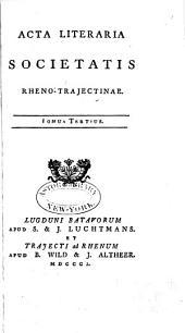 Acta literaria: Volume 3