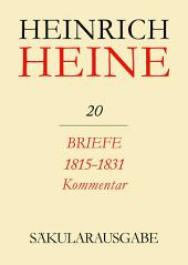 Briefe 1815-1831. Kommentar