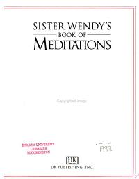 Sister Wendy s Book of Meditations