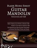 Blank Music Sheet Guitar Mandolin Nation and TAB PDF