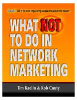 What NOT To Do In Network Marketing PDF