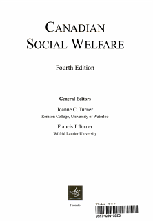 Canadian Social Welfare Book