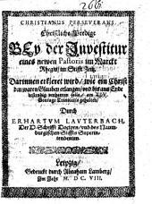 Christianus perseverans: Christliche Predigt bey der Investitur eines newen Pastoris im Markt Rhegis, im Stifft Zeitz