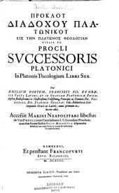 In Platonis theologiam libri sex