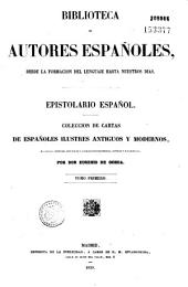 Epistolario espanol: Coleccio de cartes de espanoles ilustres antigos y modernes
