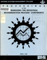 Proceedings of the  Managing the Industrial Modernization Process  Conference PDF