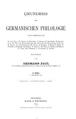Grundriss der germanischen Philologie PDF