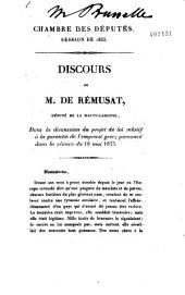 Discours de M. de Rémusat, ... dans la discussion du projet de loi relatif à la garantie de l'emprunt grec...