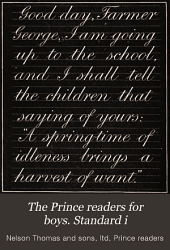 The Prince readers for boys. Standard i