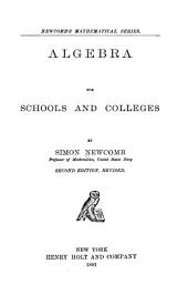 Algebra for Schools and Colleges