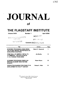 Journal of the Flagstaff Institute