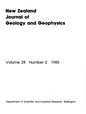 New Zealand Journal of Geology and Geophysics PDF