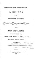 Report of the     Annual Meeting of the National Woman s Christian Temperance Union PDF