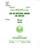 Civil and Professional Engineers and Surveyors PDF