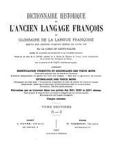 Dictionnaire historique de l'ancien langage françois: R - S., 1881