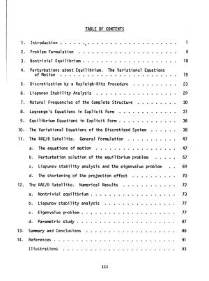 Dynamics of a Gravity gradient Stabilized Flexible Spacecraft PDF