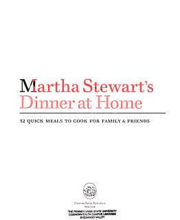 Martha Stewart s Dinner at Home Book