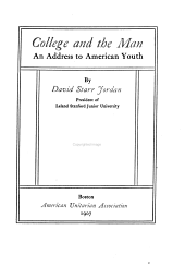College and the Man: An Address to American Youth