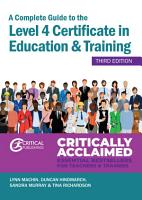 A Complete Guide to the Level 4 Certificate in Education and Training PDF