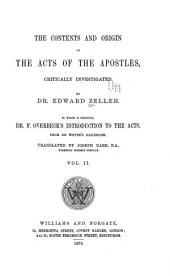 The Contents and Origin of the Acts of the Apostles: Critically Investigated, Volume 2