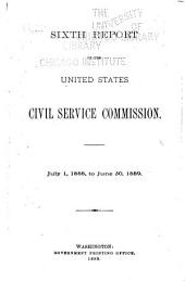 Annual Report of the United States Civil Service Commission: Volume 6