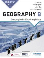OCR GCSE  9   1  Geography B  Geography for Enquiring Minds PDF