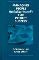 Managing People  Including Yourself  for Project Success PDF