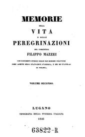 Memorie della vita e delle peregrinazioni (etc.)