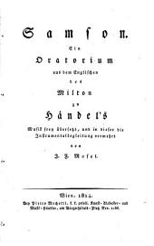 Samson: Ein Oratorium