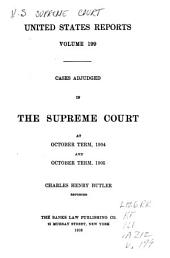 United States Reports: Cases Adjudged in the Supreme Court, Volume 199