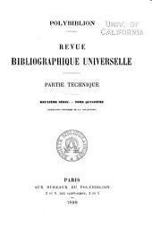 Polybiblion: Revue bibliographique universelle, Volume57